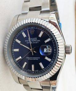 Replica horloge Rolex Datejust 23 126334 41 mm Blauwe wijzerplaat/Oysterband-Automatic