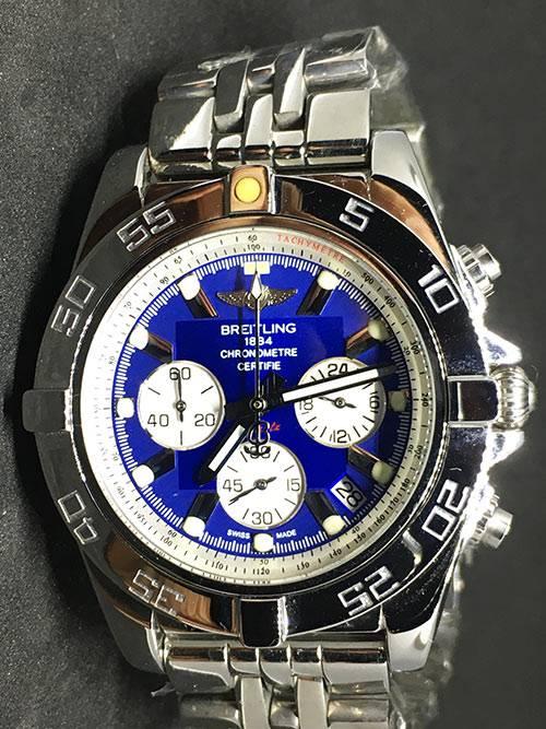Replica horloge Breitling superocean 01 (44mm) Blauw/Staal