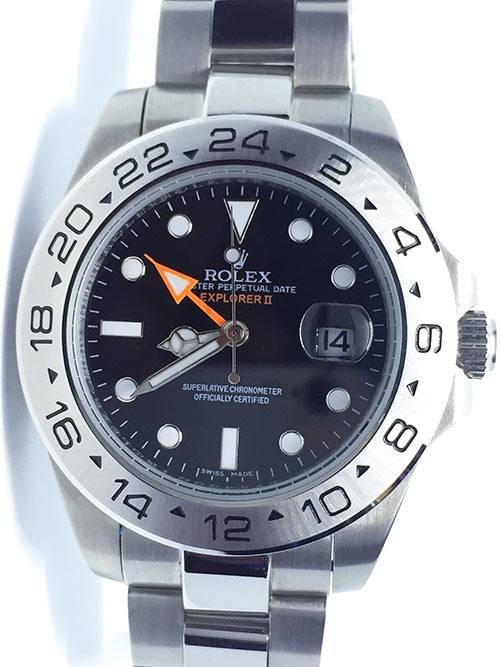 Replica Horloges Rolex Explorer ll 03 (42mm) model 216570/ Zwarte wijzerplaat/Roestvrije staal