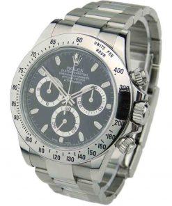Replica horloge Rolex Daytona 11 cosmograph (40mm) 116520 zwart Oystersteel-staal-Automatic-Top kwaliteit!