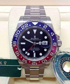 Replica horloge Rolex Gmt-master ll 01(40mm) 116719BLRO Pepsi rood / blauw Oysterband-Automatic -Top kwaliteit!