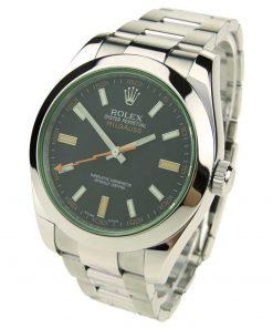 Replica horloge Rolex Milgauss 01 116400GV (40mm) Zwart Diepzwarte wijzerplaat en groen saffierglas-automatic-Top kwaliteit!
