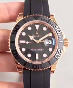 Replica horloge Rolex Yacht master 03 (40mm) 126655 Oysterflex-band Rose Gold-Automatic-Top kwaliteit!