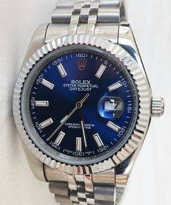 Replica horloge Rolex Datejust 26 126334 41 mm blauwe wijzerplaat, Jubilee band/Automatic