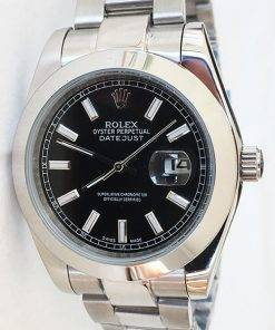 Replica horloge Rolex Datejust 06 126300 41mm zwarte wijzerplaat, Oyster band/Automatic