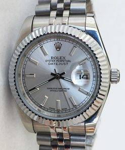 Replica horloge Rolex Datejust 27 126334 41mm grijze wijzerplaat, Jubilee band