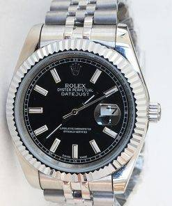 Replica horloge Rolex Datejust 28 126334 41mm zwarte wijzerplaat, Jubilee band