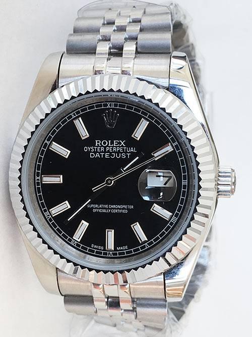 Replica horloge Rolex Datejust 28 126334 41mm zwarte wijzerplaat, Jubilee band