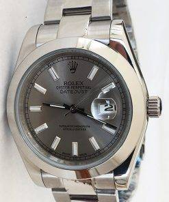 Replica horloge Rolex Datejust 29 126300 41mm grijze wijzerplaat, Oyster band