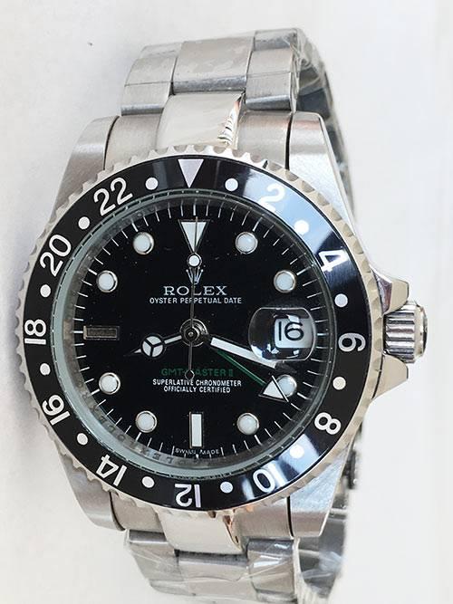 Replica horloge Rolex Gmtmaster ll 05 (40mm) 16710 zwart Oyster band