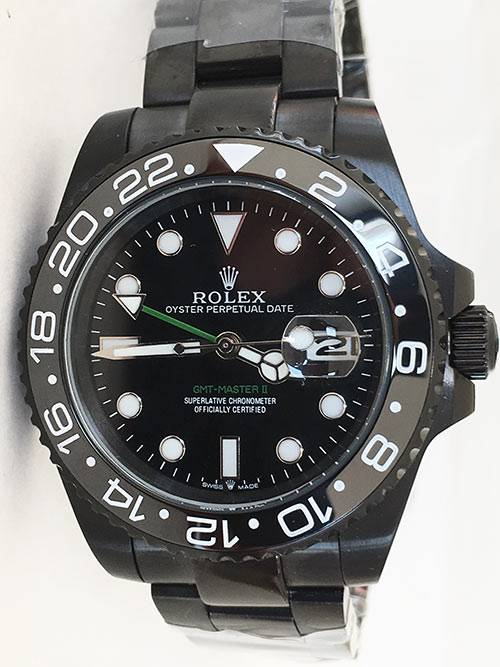 Replica horloge Rolex Gmtmaster ll 07 (40mm) 116710 Limited Edition /35 Black Venom