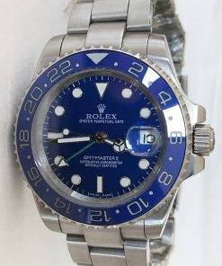 Replica horloge Rolex Gmtmaster ll 05 (40mm) 116710ln blauw Oyster band