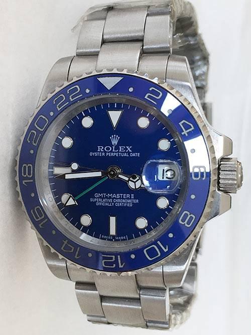Replica horloge Rolex Gmtmaster ll 05 (40mm) 116710ln blauw Oyster band
