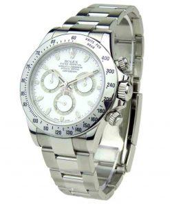 Replica horloge Rolex Daytona 12 cosmograph (40mm) 116520 Automatic Oystersteel staal witte wijzerplaat-Automatic-Top kwaliteit!