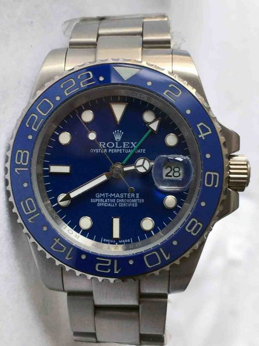 Replica horloge Rolex Gmt-Master ll 06 (40mm) 116710ln blauw Oyster band-Automatic