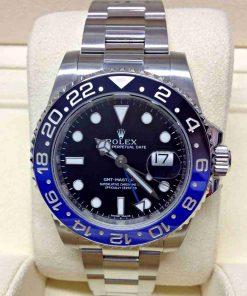 Replica horloge Rolex Gmtmaster ll 02(40mm) 116710BLNR Batman blauw/zwart Oyster Band-Automatic-