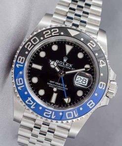 Replica horloge Rolex Gmtmaster ll 03(40mm) 116710BLNR Batman blauw/zwart Jubilee band