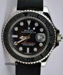 Replica horloge Rolex Yacht master 04 (40mm) 226659 Staal/Zwarte wijzerplaat/Automaat/Rubbere band