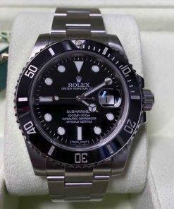 Replica horloge Rolex Submariner 01 (40mm) 116610LN Black/Zwart,Automaat,Roestvrije staal,316L roestvrije staal