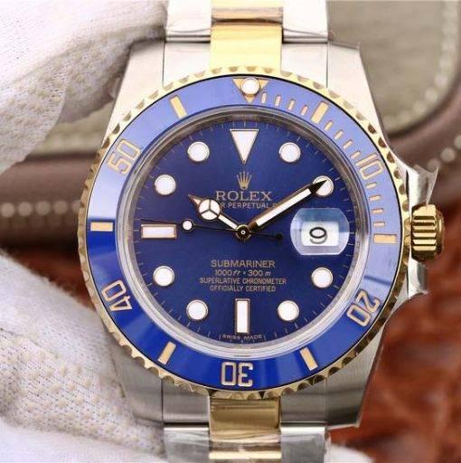 """Replica horloge Rolex Submariner 04 (40mm) 116613BLSO """"Blauw"""" Bi-Color/automatische uurwerk/"""