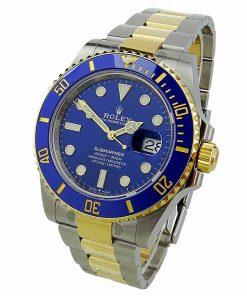 "Replica horloge Rolex Submariner 04 (40mm)116613LB ""Blauw"" Bi-Color-Automatic-Top kwaliteit!"