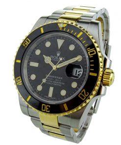 """Replica horloge Rolex Submariner 05 (40mm) 116613LN """"Zwart"""" Bi-Color-Automatic-Top kwaliteit!"""