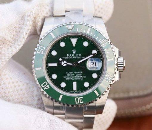 """Replica horloge Rolex Submariner 02 (40mm) 116610LV """"Hulk"""" Groen,316L roestvrije staal,automatische uurwerk"""
