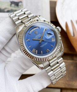 Replica horloge Rolex Day-Date 14 228239 (40mm) Blauwe wijzerplaat (President band) Automatic