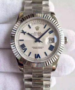 Replica horloge Rolex Day-Date 06 (40mm) 228239 Witte wijzerplaat (President band) Automatic Romans