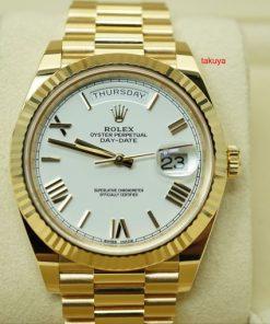 Replica horloge Rolex Day-Date 09 228238 (40mm) Witte wijzerplaat(President band) Automatic
