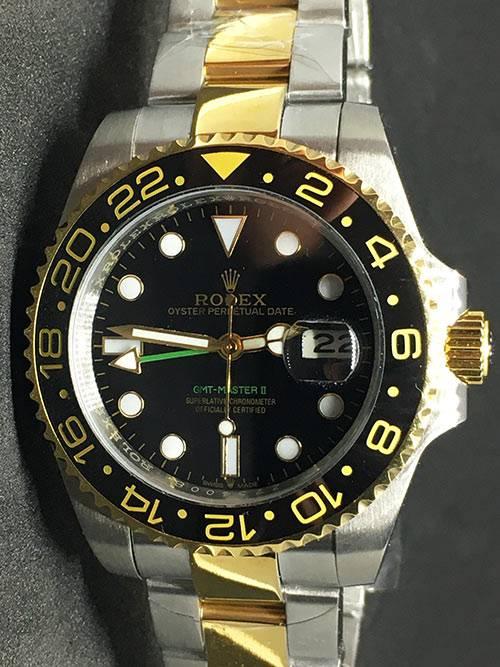 Replica horloge Rolex Gmtmaster ll 09 (40mm) Bi-color