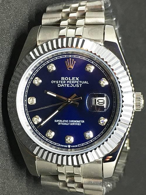 Replica horloge Rolex Datejust 31 (40mm) (Jubilee band) Blauwe wijzerplaat (Diamanten)
