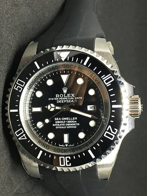 Replica horloge Rolex Sea Dweller 02 Deepsea (44mm) 126660 Zwarte wijzerplaat (Rubber)