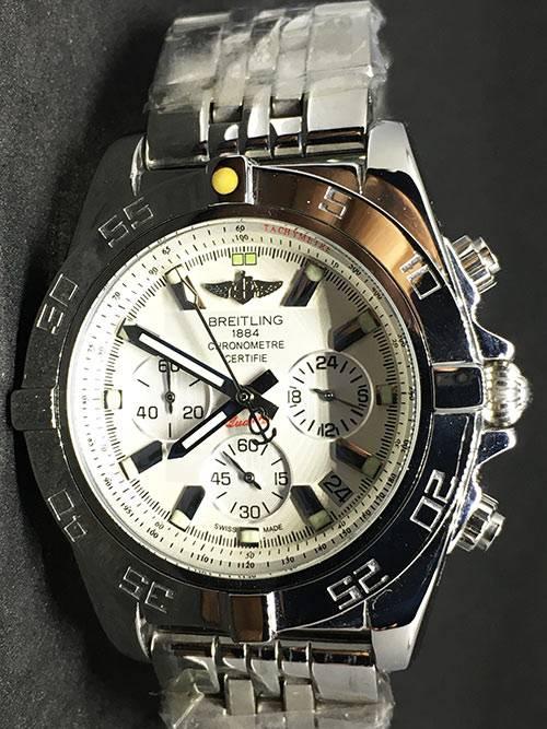Replica horloge Breitling Chronomat B01 02 (44mm) Witte wijzerplaat/ Stale band