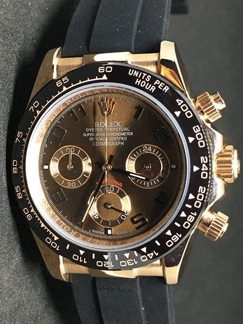 Replica horloge Rolex Daytona 02 cosmograph (40mm) Gold Chocolate