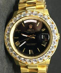 Replica horloge Rolex Day-Date 16 (36mm) ES10040150A Goude wijzerplaat(President band) Diamanten