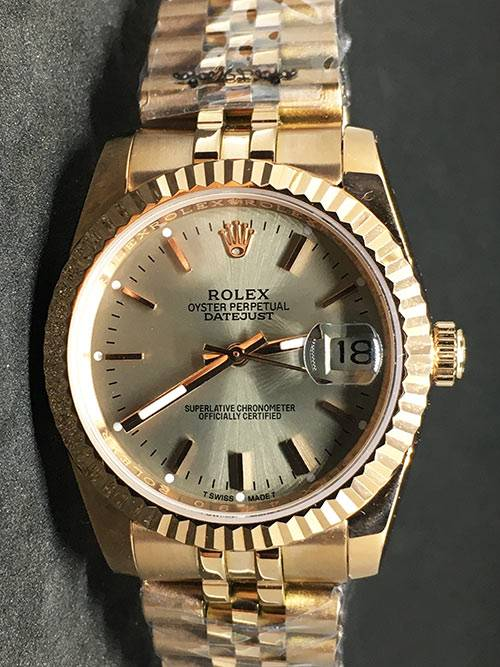 Replica horloge Rolex Datejust 36 (36mm) (Jubilee band) Goude wijzerplaat Gold
