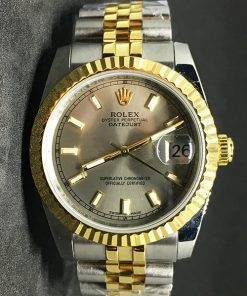 Replica horloge Rolex Datejust 37 (36mm) (Jubilee band) Goude wijzerplaat Bi-color