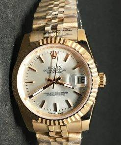 Replica horloge Rolex Datejust 38 (36mm) (Jubilee band) Witte wijzerplaat Gold