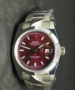 Replica horloge Rolex Datejust Dames 03 (36mm) Paarse wijzerplaat(Oyster band) Staal/ Automaat