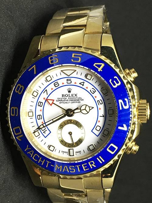 Replica horloge Rolex Yacht master ll 07 (42mm) Blauw Gold