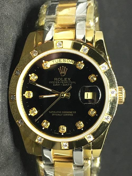 Rolex Daydate 04 (37mm) Gold Diamonds