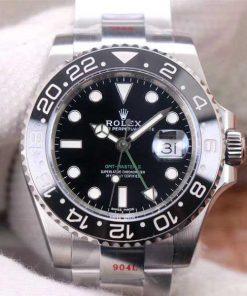 Replica horloge Rolex Gmt-master ll 10 (40mm) 126710LN Oysterband 904L staal-Automatic Black -Zwarte bezel