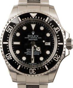 Replica horloge Rolex Sea Dweller 01 Deepsea (44mm) 126660 Zwarte wijzerplaat (Staal)-Top kwaliteit!
