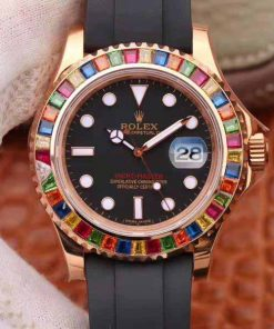 Replica horloge Rolex Yacht master 01 (40mm) 116695SATS Rose gold Oysterfex-Automatic-Top kwaliteit!