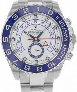 Replica horloge Rolex Yacht master ll 06 (44mm) 116680 Blauwe bezel-Oyster band-Automatic-bidirectioneel draaibare bezel-Top kwaliteit!