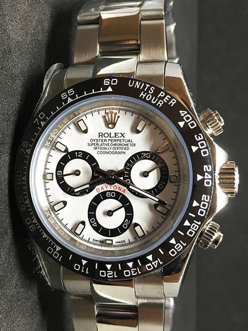 Replica horloge Rolex Daytona 08 cosmograph (40mm) 116500LN Witte wijzerplaat