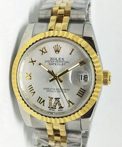 Replica horloge Rolex Datejust 41 (36mm) (Jubilee band) Bi-color Grijze wijzerplaat