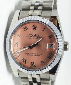 Replica horloge Rolex Datejust 42 (36mm) (Jubilee band) Staal Roze wijzerplaat
