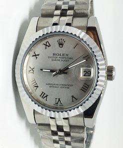 Replica horloge Rolex Datejust 43 (36mm) (Jubilee band) Grijze wijzerplaat